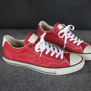 Converse John Varvatos Red Leather Low All Star